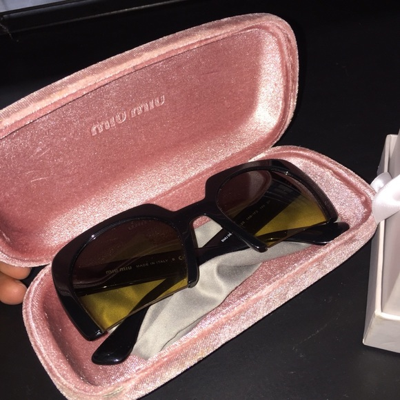 79082c3759 M 5ab418333b1608e822be1f15. Other Accessories you may like. Sunglasses.  Sunglasses.  350  450. New Miu Miu Magenta Gold Cat Eye Eyeglasses